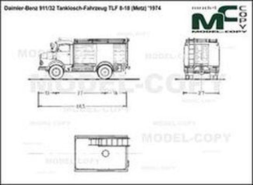 Daimler-Benz 911/32 Tanklosch-Fahrzeug TLF 8-18 (Metz) '1974 - drawing