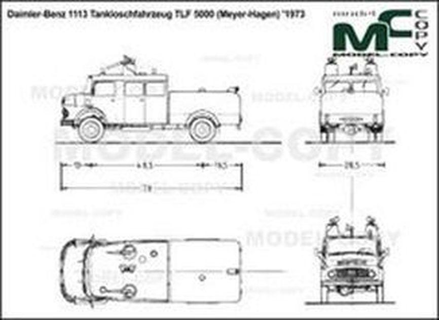Daimler-Benz 1113 Tankloschfahrzeug TLF 5000 (Meyer-Hagen) '1973 - drawing
