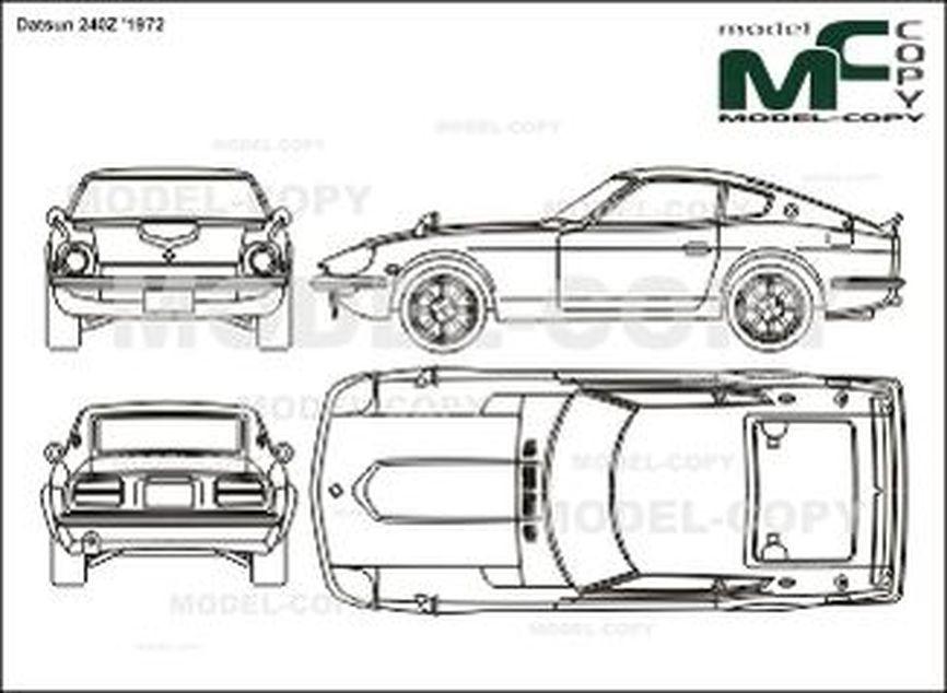 Datsun 240Z '1972 - 2D drawing (blueprints)
