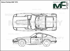 Datsun Fairlady 240Z '1972 - drawing