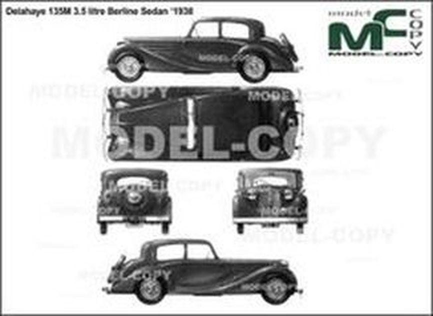 Delahaye 135M 3.5 litre Berline Sedan '1938 - 2D drawing (blueprints)