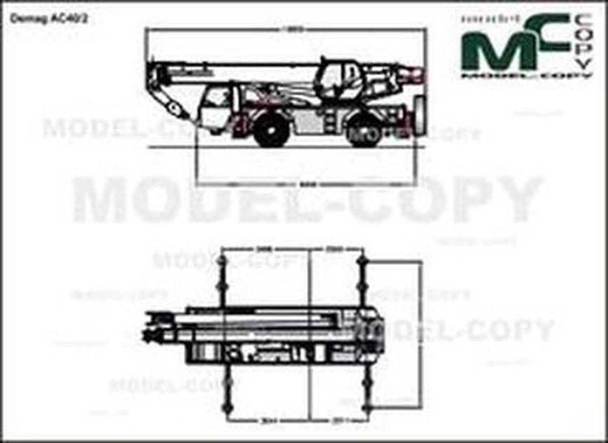 Demag AC40/2 - 2D drawing (blueprints)