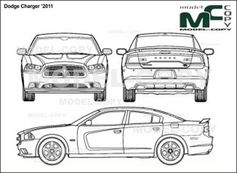 dodge charger  u20192011 - drawing - 24181