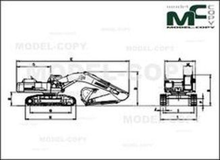 Doosan SOLAR470LCV - 2D drawing (blueprints)