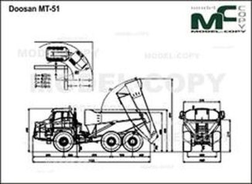 Doosan MT-51 - 2D drawing (blueprints)