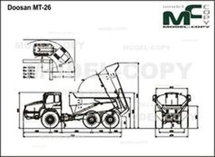 Doosan MT-26 - 2D drawing (blueprints)