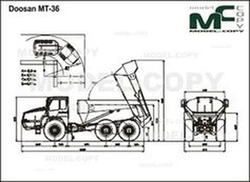 Doosan MT-36 - 2D rajz