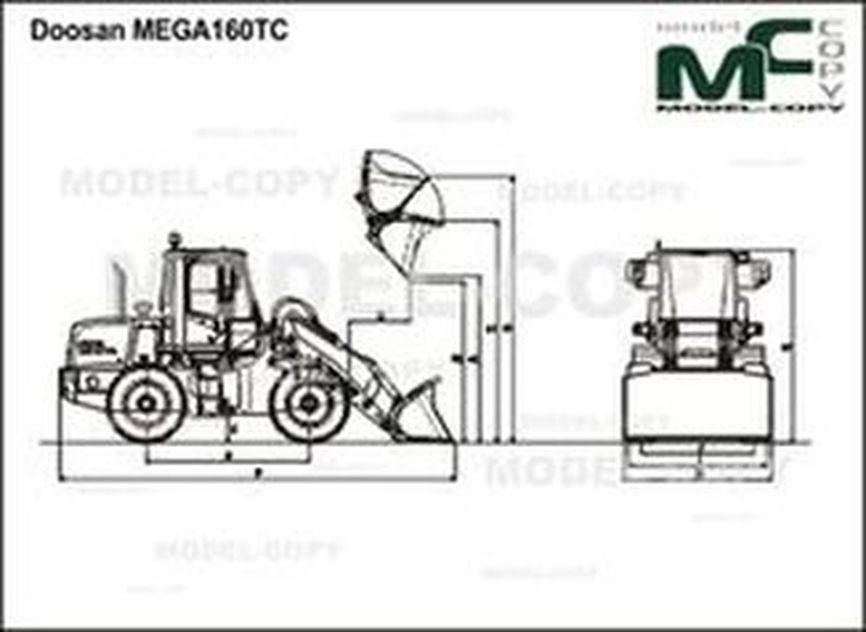 Doosan MEGA160TC - 2D drawing (blueprints)