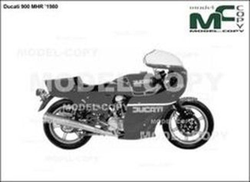 Ducati 900 MHR '1980 - drawing