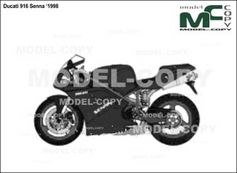 Ducati 916 Senna '1998 - drawing