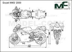 Ducati 996S '2000 - 2D drawing (blueprints)