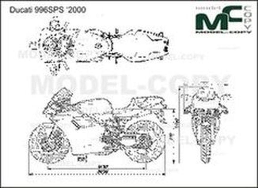 Ducati 996SPS '2000 - 2D drawing (blueprints)