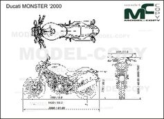 Ducati MONSTER '2000 - 2D drawing (blueprints)