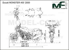 Ducati MONSTER 400 '2000 - 2D drawing (blueprints)