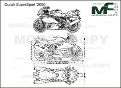 Ducati SuperSport '2000 - 2D drawing (blueprints)