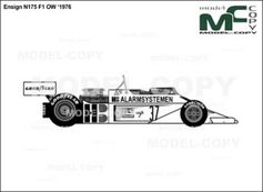 Ensign N175 F1 OW '1976 - drawing