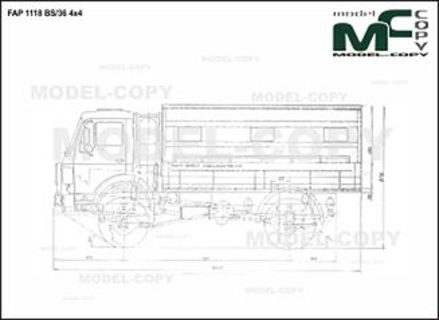 FAP 1118 BS/36 4x4 - drawing