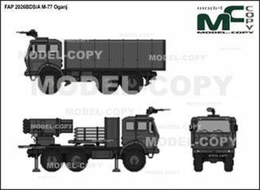 FAP 2026BDS/A М-77 Оganj - 2D drawing (blueprints)