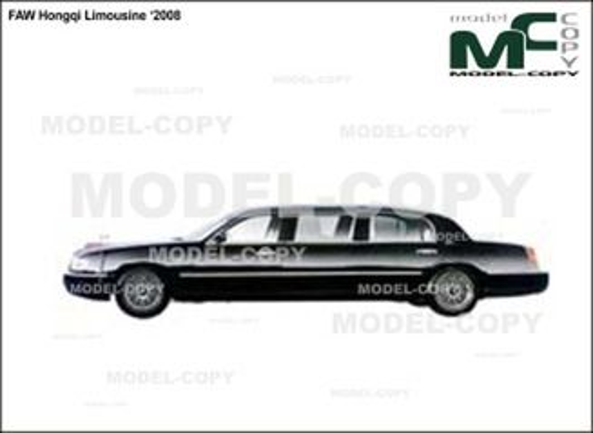 FAW Hongqi Limousine '2008 - 2D drawing (blueprints)