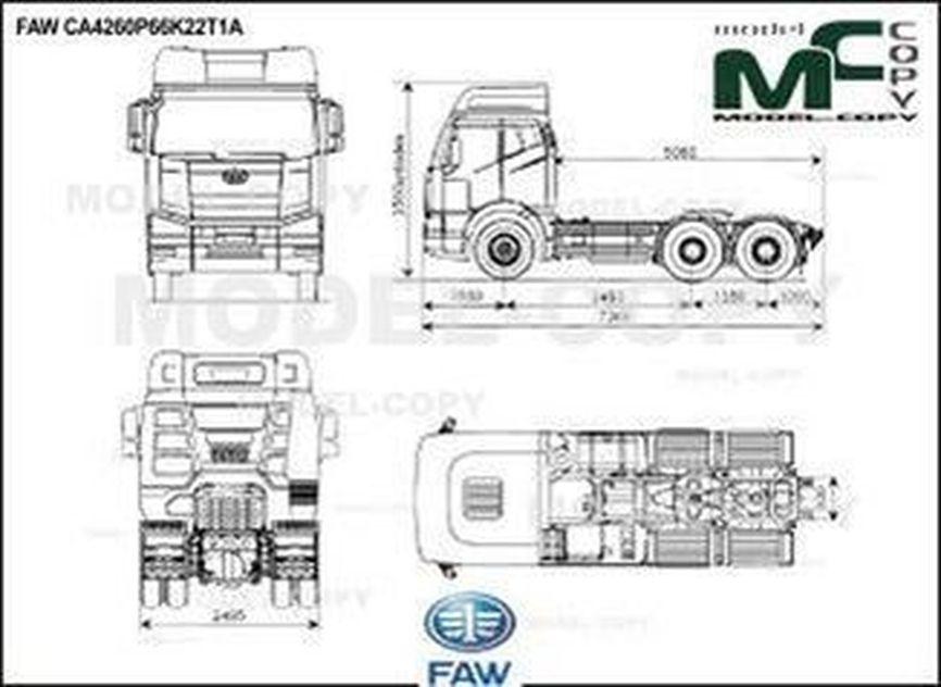 FAW CA4260P66K22T1A - drawing