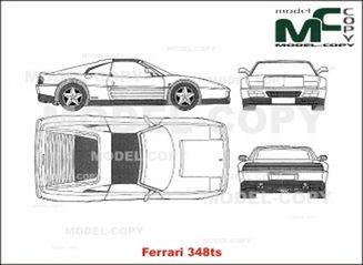 Ferrari 348 TS - 2D drawing (blueprints)