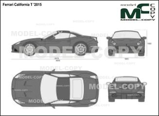 Ferrari California T '2015 - 2D drawing (blueprints)