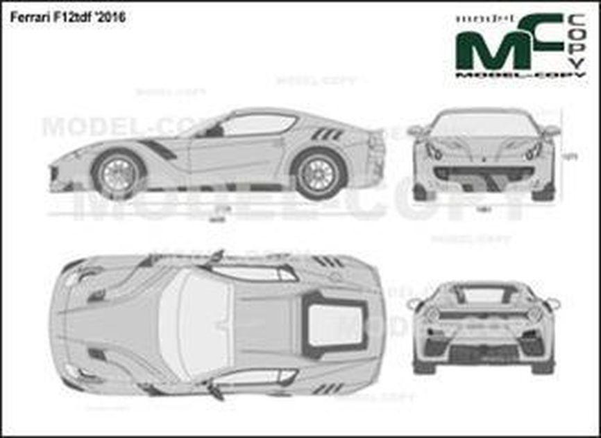 Ferrari F12tdf '2016 - 2D drawing (blueprints)