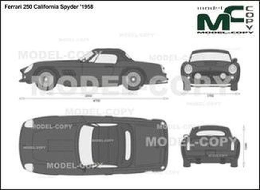 Ferrari 250 California Spyder '1958 - 2D drawing (blueprints)