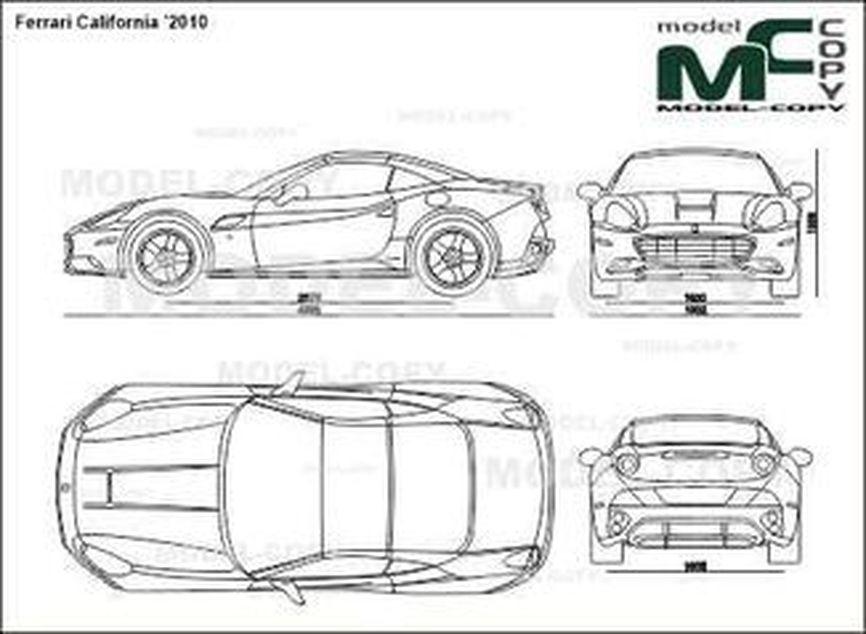 Ferrari California '2010 - 2D drawing (blueprints)