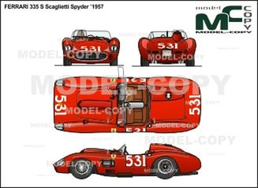 Ferrari 335 S Scaglietti Spyder '1957 - 2D drawing (blueprints)