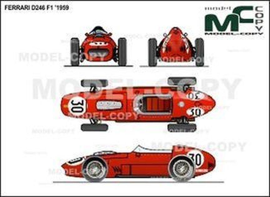 Ferrari D246 F1 '1959 - 2D drawing (blueprints)