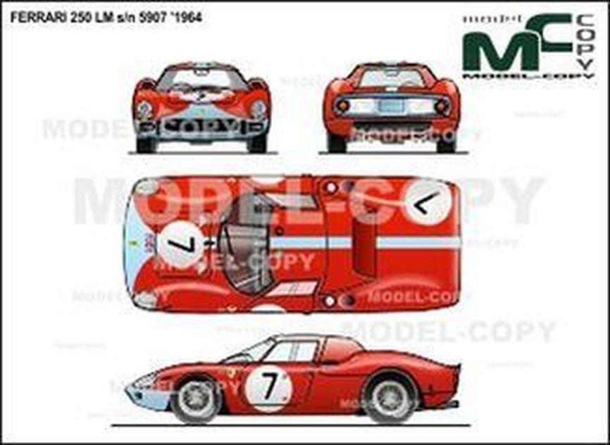 Ferrari 250 LM s/n 5907 '1964 - 2D drawing (blueprints)