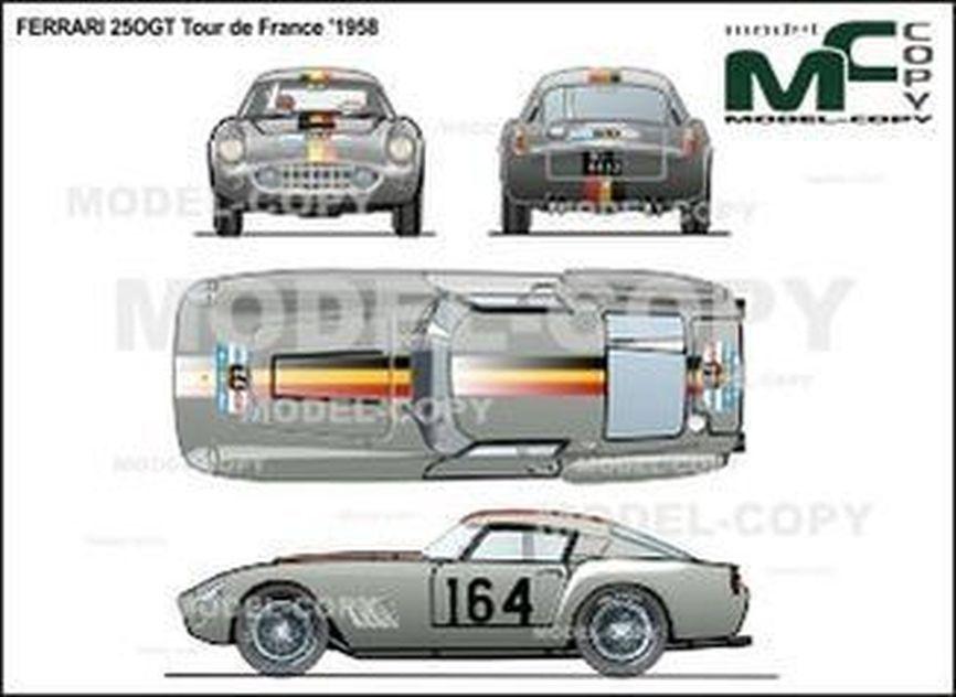 Ferrari 25OGT Tour de France '1958 - 2D drawing (blueprints)