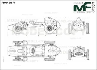 Ferrari 246 F1 - 2D drawing (blueprints)