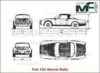Fiat 124 Abarth Rally - 2D drawing (blueprints)