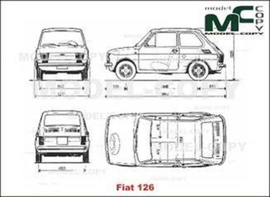 fiat 126 - disegno - 20009