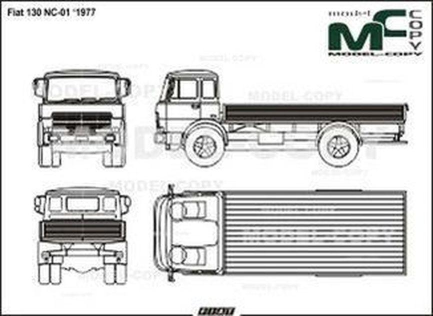 Fiat 130 NC-01 (1977) - 2D drawing (blueprints)