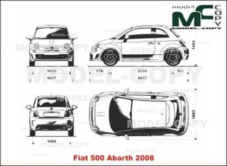 Fiat 500 Abarth 2008 Drawing