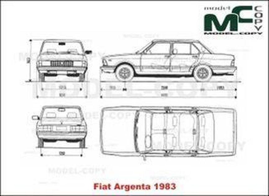 Fiat Argenta (1983) - disegno
