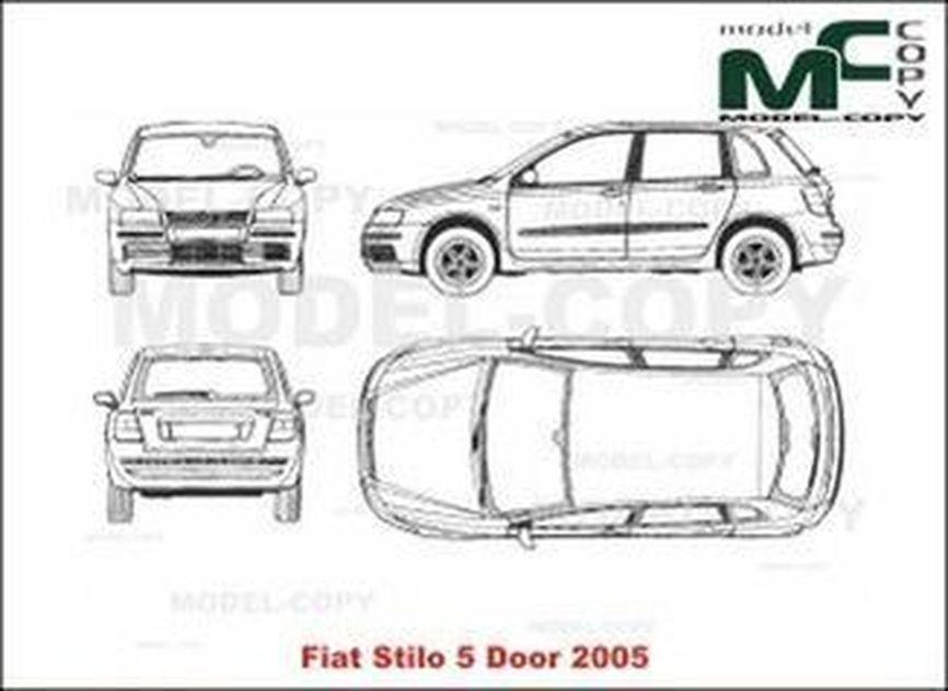 Fiat Stilo 5-Door (2005) - 2D drawing (blueprints)