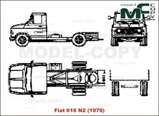 Fiat 616 N2 (1970) - 2D drawing (blueprints)