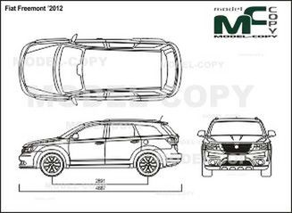 Fiat Freemont 2012 Drawing 24200 Model Copy