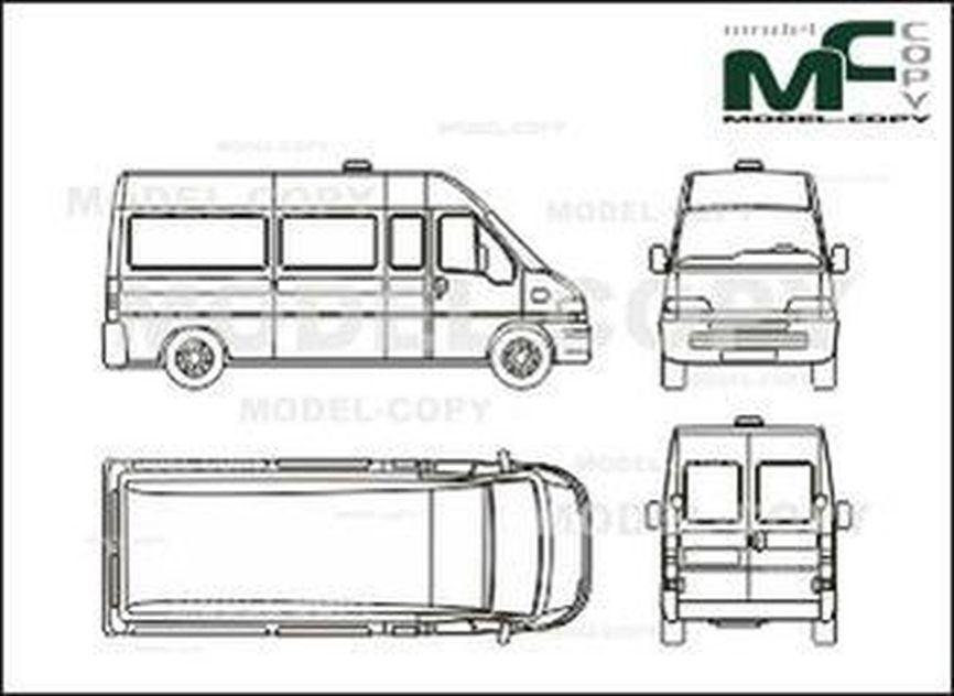 fiat ducato maxi  high space box car  glazed  longer
