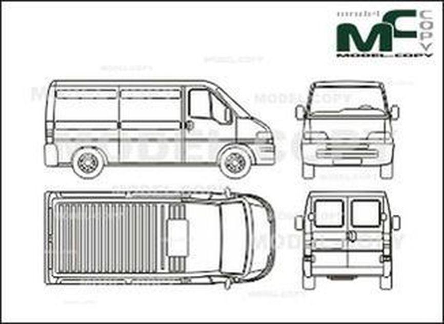 fiat ducato box  middle wheelbase  - rysunek