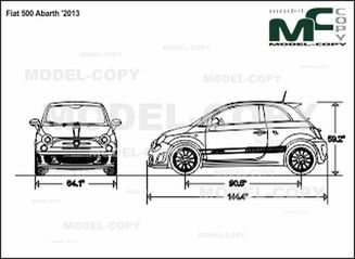 Fiat 500 Abarth 2013 Drawing