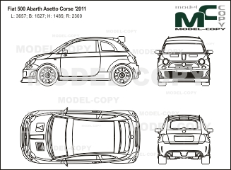 Fiat 500 Abarth Asetto Corse 2011 Drawing