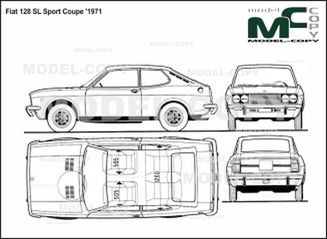 fiat 128 sl sport coupe  u0026 39 1971 - drawing - 40104