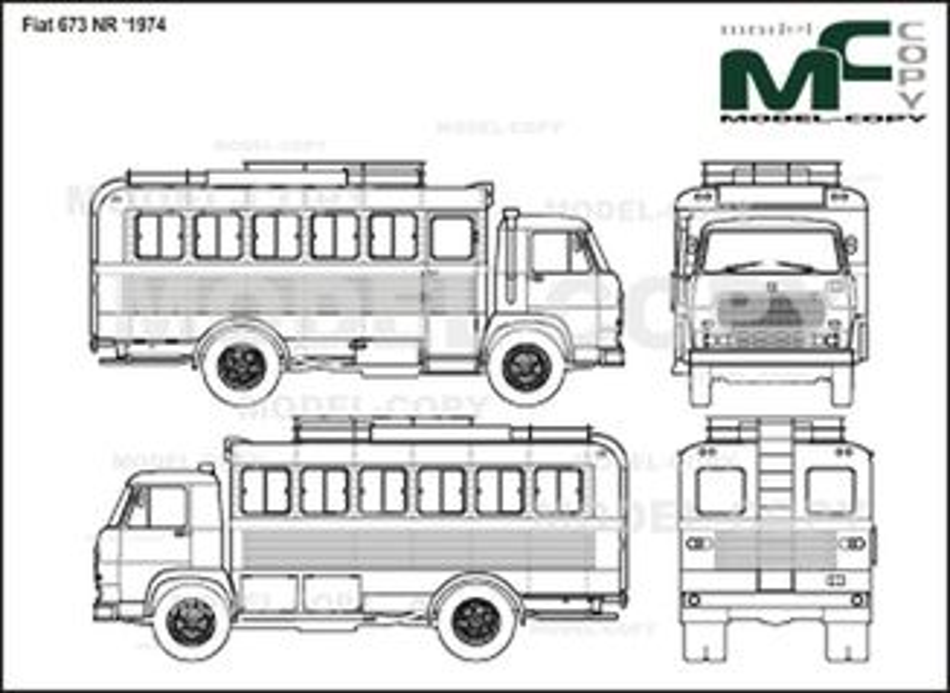 Fiat 673 NR '1974 - 2D drawing (blueprints)