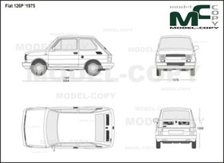 Fiat 126P '1975 - drawing