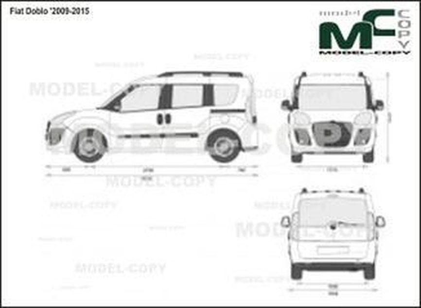 Fiat Doblo '2009-2015 - 2D drawing (blueprints)